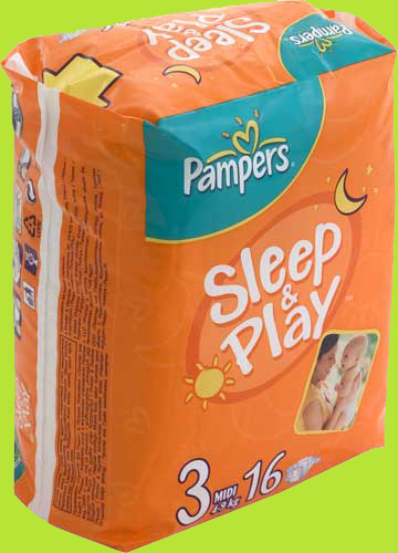 Подгузники Pampers Sleep & Play 4-9 кг. №16(Польша/Procter&Gamble Operations Polska Sp.z.o.o.)